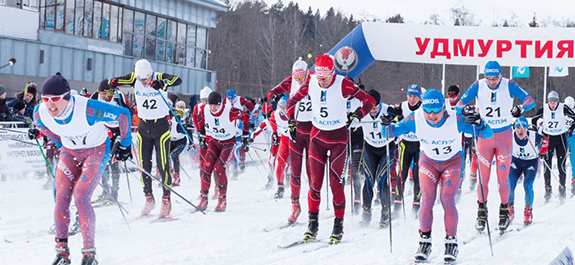 В «Ижевской лыжне— 2018» приняло участие более 550 спортсменов