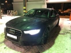 Audi A6 2014 г. (черный)