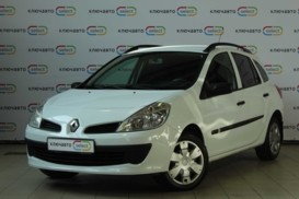 Renault Clio 2008 г. (белый)