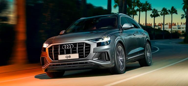 Специальные условия кредитования для новых автомобилей Audi A3 — 3%, A4 — 4%, A5 — 5%, Q5 — 5%, A6 — 6%, Q7 — 0,7%, Q8 — 0,8%, e-tron — 1%